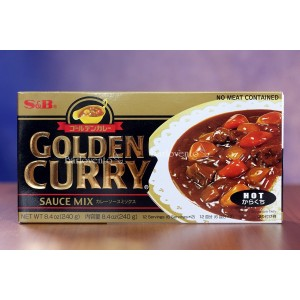S&B golden curry mix hot